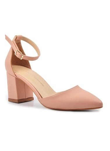 Esstii 316 Ten Kadın Topuklu Ayakkabı Pudra
